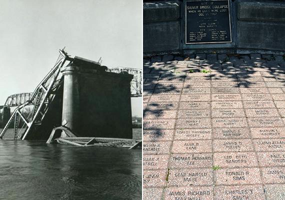 1967-hez köthető a leghírhedtebb megjelenés, állítólag többen is látták a lényt, mielőtt a helyi Silver Bridge összeomlott volna, 46 ember halálát okozva. A jobb oldali képen az áldozatok emlékműve látható.