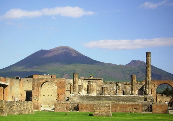 Így fest Pompeji romvárosa, mely az UNESCO Világörökség részét képezi.