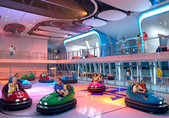 A hajó szórakoztatóközpontja is többfunkciós.