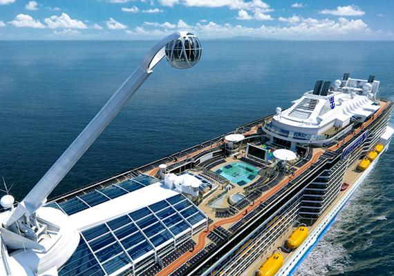 A luxushajózás történetében újdonságnak számít a fedélzeten megtalálható szabadesés-szimulátor, emellett a North Starnak nevezett üvegkabin is, melynek révén az utasok 360 fokos körpanorámában gyönyörködhetnek az óceán fölött.