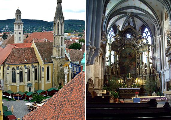 A szintén a Fő téren álló Kecske-templomot egykor a ferences szerzetesek építtették - nevét az építtető toronyhomlokzaton is megjelenő címerállata után kapta -, ma azonban a bencés szerzetesek felügyelete alatt áll. A templom a korai magyar gótikus építészet kiemelkedő példája.