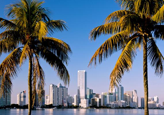 A Floridában található világváros, Miami szintén víz alá kerülhet.