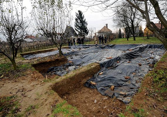 A kutatók szerint egyértelmű, hogy a feltárt maradványok egy szultáni építményhez tartoztak, 16. századi oszmán díszítésekkel, de azt még nem lehet bizonyossággal megmondani, hogy melyik épület a türbe, és melyik a dzsámi. A képen Szita Károly kaposvári polgármester és a török testvérváros, Üsküdar delegációja látható, miközben megtekintik I. Szulejmán szultán nemrégiben feltárt és már téliesített sírhelyét.
