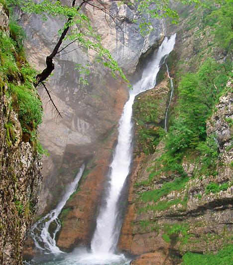Savica-vízesés  A Savica-vízesés a Száva egyik bővizű forrásának köszönhető, mely a Bohinj-tó északnyugati sarkában található Komma-szikla oldalából tör elő, majd a víztömeg mintegy hetven métert zuhan. A Bohinj-tótól egy több kilométeres szerpentinen juthatsz fel a vízesésig.  Kapcsolódó címke: Vízesés »
