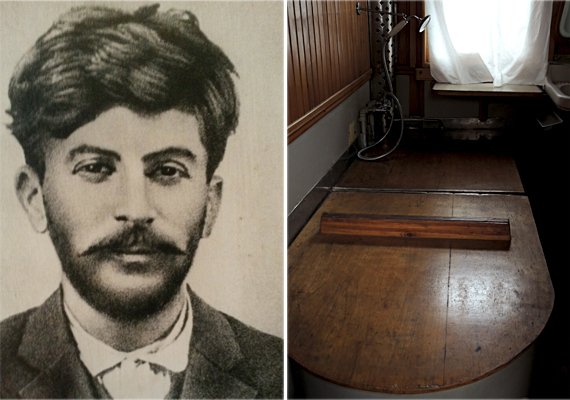 Kép a fiatal Sztálinról, valamint a kiállított vasúti kocsi fürdőkádja. A grúzok Sztálinról való vélekedése - csakúgy, mint az egyedülálló múzeum megítélése - a mai napig kettős, egyrészt elítélik tetteit, másrészt azonban büszkeség is vegyül abba, ahogy arról beszélnek, milyen fontos történelmi helyet tudhatnak a magukénak. Volt olyan kezdeményezés, amely a múzeumot az áldozatok emlékhelyévé alakította volna át, ez azonban nem valósult meg, talán köszönhetően annak is, mekkora turisztikai vonzerővel bír a hely. Jelenleg található a múzeumban egy helyiség, mely egy egykori kihallgatószobát jelenít meg a meghurcoltakra és elhunytakra emlékezve, emellett pedig angol felirat is tájékoztatja a nyugatot arról, hogy a múzeum egyúttal a szovjet propagandát és történelemhamisítást is első kézből mutatja be.