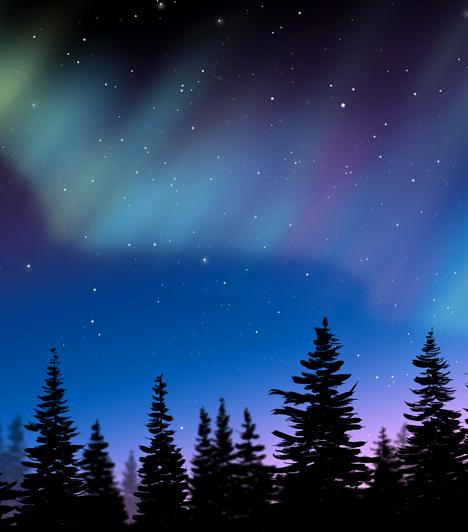 Sarki fény, Déli- és Északi-sark  A római hajnalistennőről elnevezett aurora borealis, illetve aurora australis bolygónk Északi- és Déli-sarkának területein csodálható meg. A vörösben és zöldes árnyalatokban tündöklő jelenség a Föld légkörébe behatoló protonoknak és elektronoknak köszönheti létrejöttét.  Kapcsolódó cikk: A legszebb háttérképek az északi fényről »