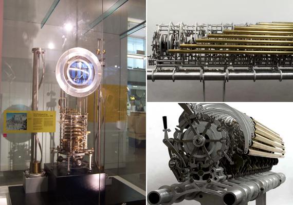 A tízezer éves óra szülőatyja és tervezője Danny Hillis, aki már az 1980-as években is dolgozott az ötleten, végül azonban csak 1995-ben mutatta be a tervet. Az első, kisméretű prototípus, melyet 1999-ben üzemeltek be - a bal oldali képen -, ma a londoni Tudományos Múzeumban látható.