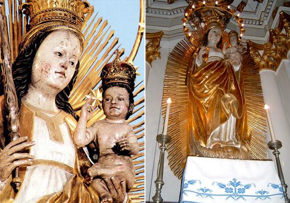 Az erdélyi, csíksomlyói Mária-szobor elé járulva minden évben temérdek hívő fohászkodik segítségért, miközben a Szűzanya lábát is megcsókolják.