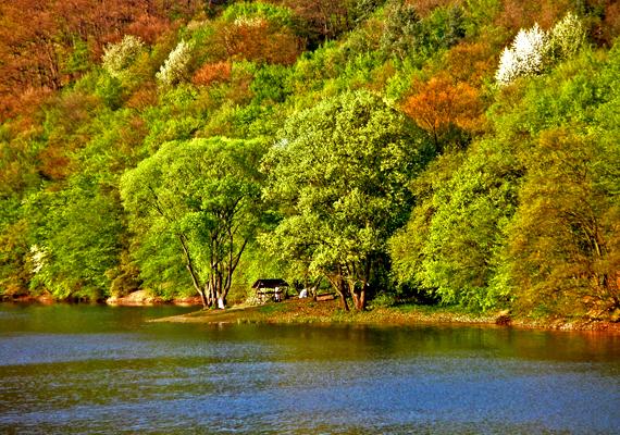 A Lázbérci-víztározó környéke mesébe illik. A nagy felbontású képért kattints ide!