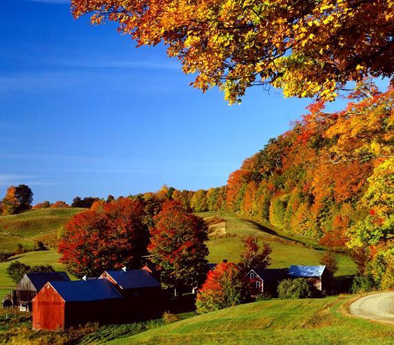 Amerika északkeleti államát, Vermontot hegyek és völgyek szelik át. Őszi színpompája világhírű. Kattints ide a háttérképért!