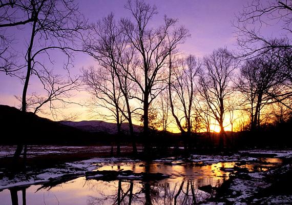 A Tennesse-ben található Great Smoky Mountain Nemzeti Park így fest télen. Kattints ide a nagy felbontású képért!