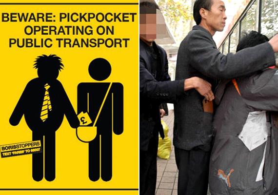 A vonatok és a buszok nagyon kockázatos helynek számítanak a zsebtolvajok tekintetében, felszálláskor és leszálláskor például nagyon vigyázz, a tolongó tömegben ugyanis könnyebben marad észrevétlen a bűncselekmény.