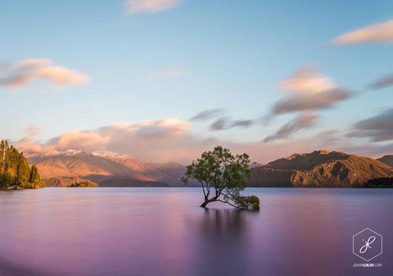 Johan Lolos több mint fél évig a Déli-szigeten található Wanakában is élt, ahol szintén magával ragadta a természet szépsége.