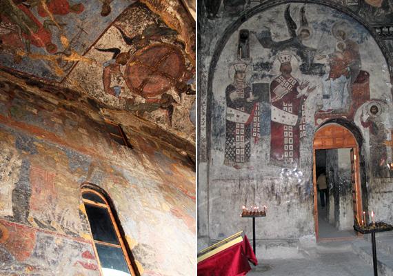 A kolostor falait és mennyezetét sok helyen festmények díszítik, melyeknek egy részéről Tamar grúz királynő köszön vissza. Tamarról úgy tartják, hogy az ő uralkodása alatt élte Grúzia az aranykorát, és ő volt az, aki a mongolokat is legyőzte.