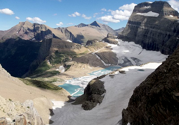 A montanai Glacier Nemzeti Park a kutatók szerint 15-17 éven belül teljesen gleccsermentes lesz a klímaváltozás miatt.