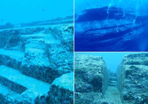 Japán mellett, Okinawa közelében a víz alatt titokzatos piramisokra bukkantak búvárok. A helyet japán Atlantisznak is nevezik. A lépcsős szerkezetek hasonlóak az egyiptomi épületekhez. Valószínűleg egy földrengés okozta vesztüket.