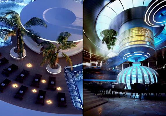 A hotelben étterem, spa, medence, valamint különféle közösségi terek is helyet kapnának.