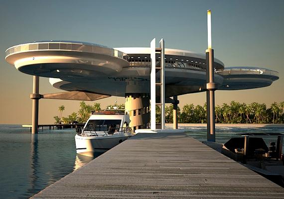 Az építészek a tervezés során inkább képzelték el a hotelt hajóként, mint épületként. Mivel nincs rögzítve az óceán fenekére, mobilis marad.
