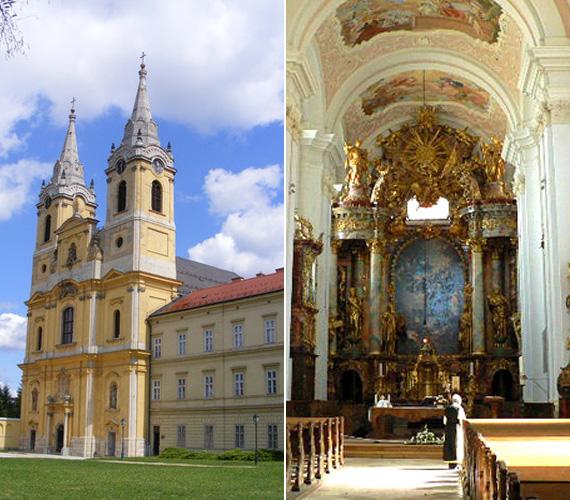 A képen a Ciszterci Apátság épülete látható. A csodaszép barokk templom fenséges látványt nyújt számos freskójával, oltáraival.