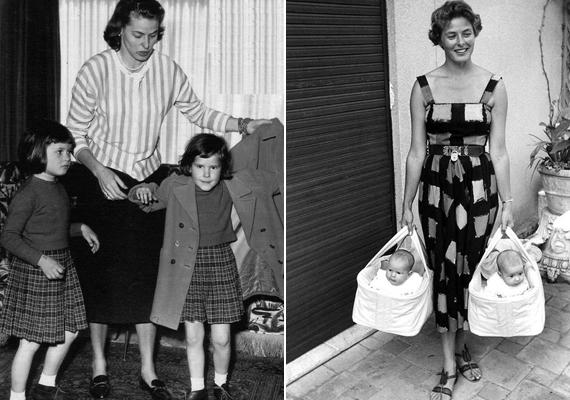Bár nem egypetéjű ikrek, a sztár gyakran öltöztette ugyanolyan ruhába ikerlányait, ahogy a hajukat is egymáséhoz igazította.