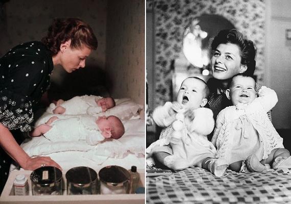 Ingrid Bergmanról és ikerlányairól számtalan fotó készült baba- és gyerekkorukban, amelyeken jól látszik, a gyönyörű svéd színésznő imádta a lányait.