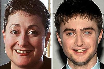 Marcia Greasham és Daniel Radcliffe