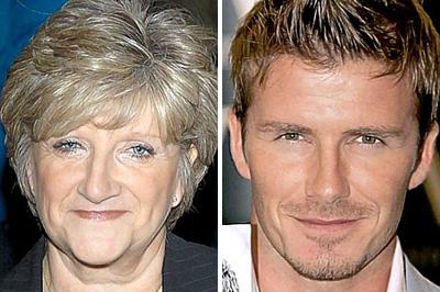 Sandra és David Beckham