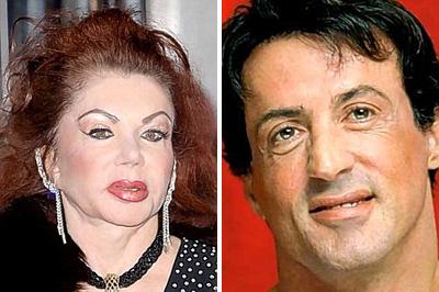 Jackie és Sylvester Stallone