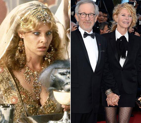 Indiana Jones mellett mindig volt egy csinos nő is: az Indiana Jones és a végzet temploma című 1984-es filmben ezt a hölgyet Kate Capshaw alakította. A forgatáson találkozott Steven Spielberg rendezővel, akivel 1991-ben össze is házasodtak. A 61 éves színésznő utoljára 2002-ben állt a felvevőgép elé, leginkább főállású feleség és anya férje oldalán. Előző kapcsolatokból született és két örökbefogadott gyerekkel együtt hét csemetét nevelnek.