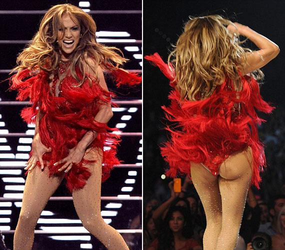 Jennifer Lopez a Las Vegas-i MGM Grand Garden Arenában az iHeartRadio nevű fesztiválon lépett fel, a koncerten a kelleténél többet mutatott magából.