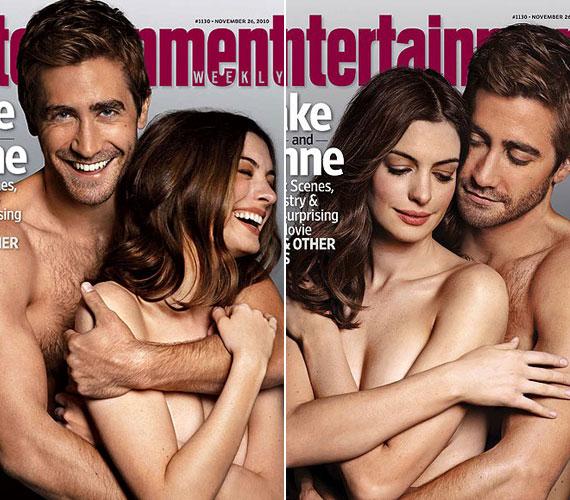Anne Hathaway és Jake Gyllenhaal az Entertainment Weekly címlapján népszerűsítették Szerelem és más drogok című filmjüket.