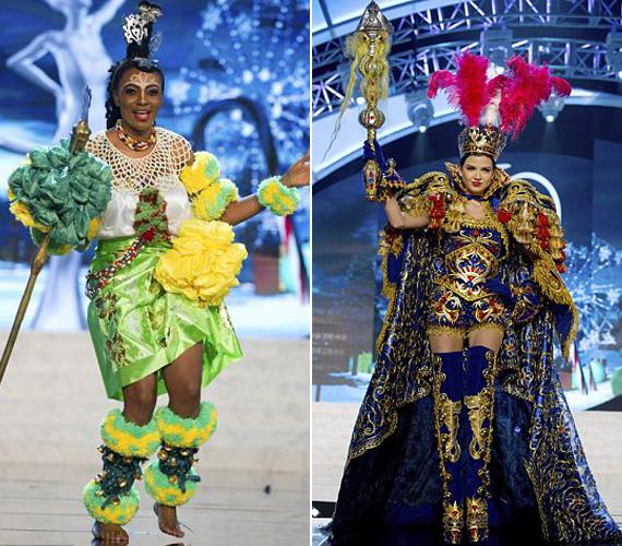 Miss Nigéria törzsi táncot is lejtett, míg Peru büszkesége az inkák kincsét testesítette meg.