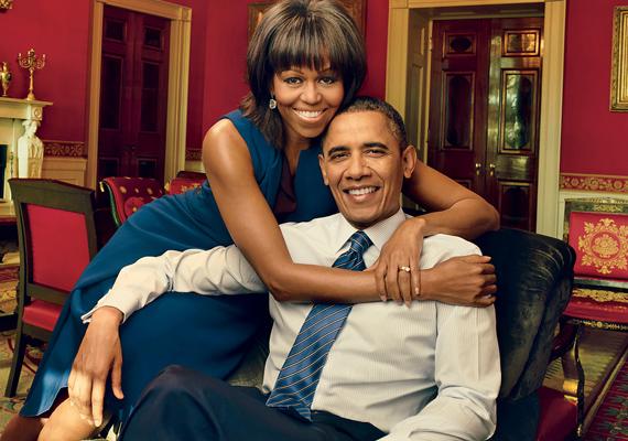 Az amerikai elnök, Barack Obama és felesége, Michelle is bekerült a legbefolyásosabb öt pár közé.