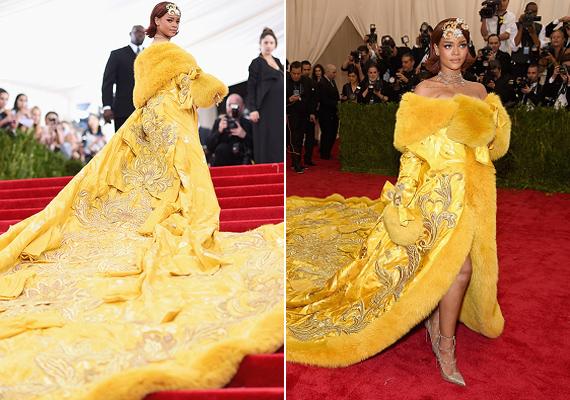 Még mindig emlegetik Rihanna ruháját a Met-gáláról. Az élénksárga, uszályos darab nem lett a rajongók kedvence.