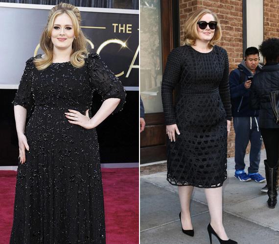 Bár Adele-t eleve telt idomokkal ismerték meg az emberek, gyermeke születése utáni visszatérése nagy meglepetést tartogatott. Nemcsak új dalokkal jelent meg, de sokat fogyott, így szűkebb ruhákat is bátran felvesz.