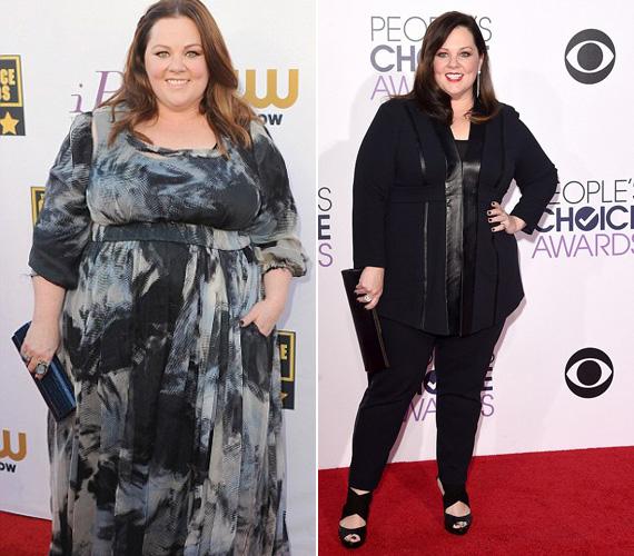 Melissa McCarthy, a Kém című film főszereplője legalább 22 kilót fogyott az utóbbi időben. A színésznőt nagyon sokszor bántották a túlsúlya miatt, ő azonban bebizonyította, hogy számára nincsen lehetetlen.