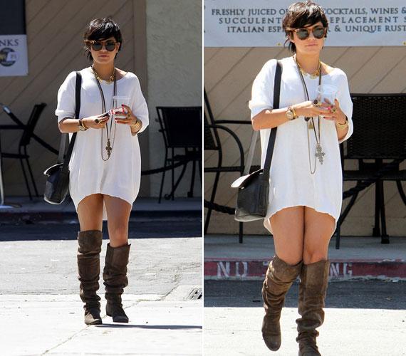 Vanessa Hudgens még csak 22 éves, de öltözködési stílusa sokszor túl merész, legutóbb Los Angelesben mászkált, alul semmiben.