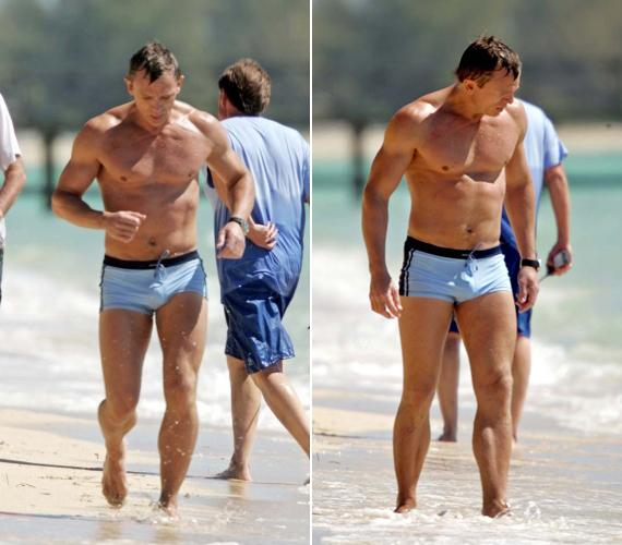 Daniel Craig bebizonyította, nem véletlenül választották ki James Bond szerepére: 44 évesen is remekül néz ki.