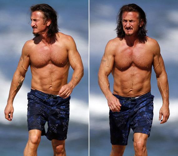 Sean Pennek nincs mit szégyellnie, 52 évesen is kitűnő kondíciónak örvend.