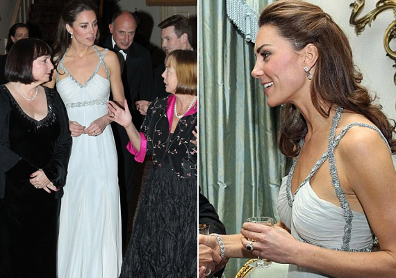 A bájos Katalin hercegnő jótékonysági est háziasszonyként debütált, eddig ugyanis csak férjével, Vilmos herceggel vagy a királyi családdal együtt jelent meg hasonló hivatalos rendezvényen.