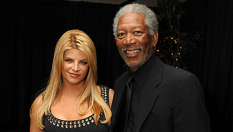 Morgan Freeman is bukik rá: Kirstie Alley