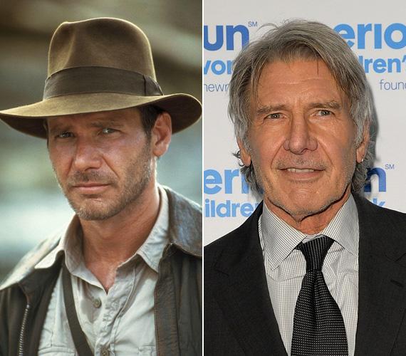 Harrison Ford 42 éves volt, amikor először felvette a kalandvadász régészprofesszor filckalapját, az 1984-es Indiana Jones és a Végzet temploma kedvéért. A kasszasikert még néhány folytatás követte, de a színész más filmekben is bizonyított, A szökevényért Golden Globe-ra is jelölték. Mostanában az Expendables harmadik részében láthatták a nézők, a most forgatott Star Wars: Az ébredő erőben pedig ismét Han Solóként lesz látható a mozikban.