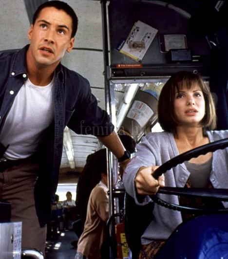Féktelenül  Annak ellenére, hogy mindketten filmeztek már a nyolcvanas években is, Keanu Reeves és Sandra Bullock az 1994-es akciófilmmel robbantak be a sztárvilágba.