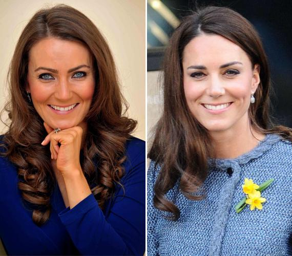 A bal oldalon a 34 éves Heidi Agen látható, aki a világ legváltozatosabb pontjain adja ki magát Katalin hercegnőnek. A jobb oldalon pedig az igazi híresség szerepel. Heidi korábban egy interjúban bevallotta, nem csupán pozitív reakciókat kap, egyszer például halálosan megfenyegették.