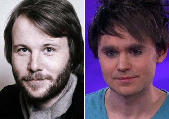Arcvonásai erősen emlékeztetnek az ABBA együttes énekesére: Charlie szemeit, orrát és száját is nagyapjától örökölte.