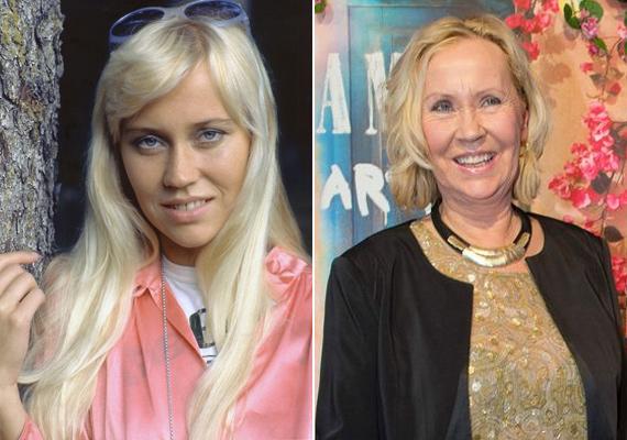 Az ABBA szőke bombázója, Agnetha Fälstkog már 66 éves lesz idén. Ehhez képes még mindig nagyon csinos, és a szőke hajszínéről sem tudott lemondani.