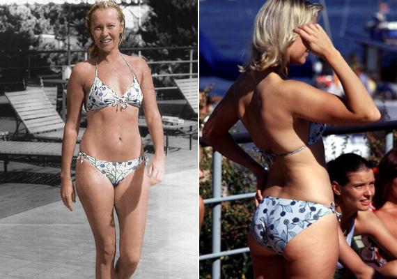 25 évesen ilyen tündéri virágmintás bikiniben napozott. Nem csoda, hogy már akkor megőrültek érte a férfiak!