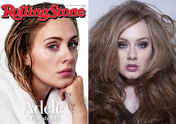 Nagy bátorság kell ahhoz, hogy valaki megmutassa natúr arcát a világnak, Adele-t sem sűrűn láthattuk eddig vastagon kihúzott, cicás szemsminkje nélkül.
