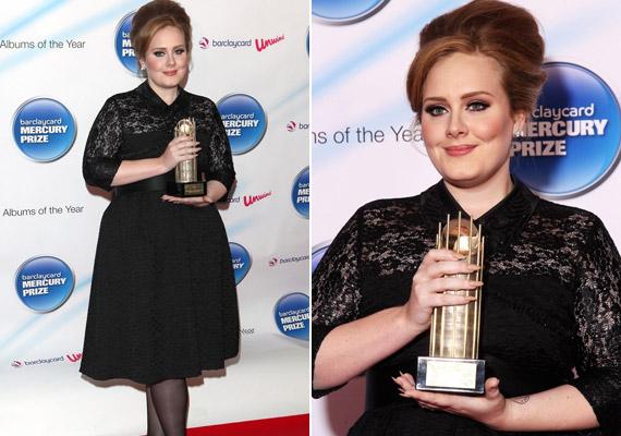 A kétszeres Grammy-győztes sztár legutóbb a Barclaycard Mercury Prize-gálán kapott díjat 21 című albumáért.