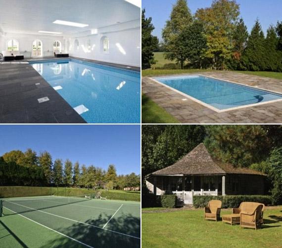 Kültéri és beltéri medence is szolgálja a tulajdonos kényelmét.